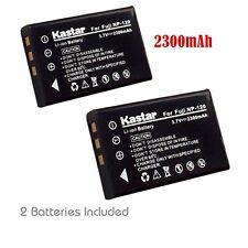 2x Kastar Battery for Fujifilm NP-120 FNP120 FinePix 603 F10 F11 M603 RICOH