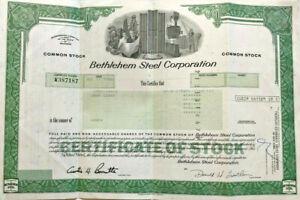 Bethlehem Steel Corporation > 1986 manufacturing stock certificate