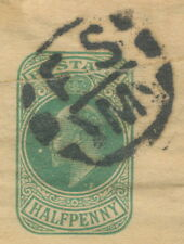 2401 W.H.SMITH Advertising EVII ½ D bluegreen stamped to order postal stationery