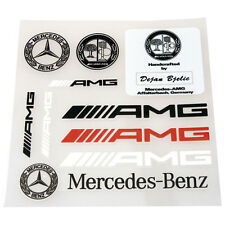 10 Pcs Set High Quality AMG Sports Badge Decal Emblems Sticker Fits For All Type