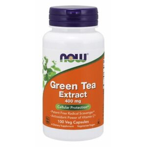 Now Foods Green Tea Extract 400 Mg 100 Vcaps Made in USA FREE SHIPPING