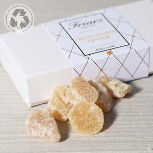 Crystallised Ginger Gift Box Natural Sweet and Spicy Raw Stem Ginger Pieces 230g