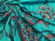 3 METRES FLOWER/FLORAL PRINT FABRIC DRESS SKIRTS 2 WAY STRETCH POLYESTER .