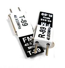 RC 40 MHz 40.935 FM Cristal TX & RX Receptor 40 MHz Negro canal 89