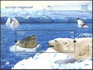 Portugal Mint S/S Polar Year Fauna Polar Bear 2008   avdpz