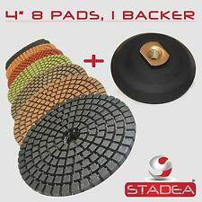 "4"" PREMIUM 8 DIAMOND POLISHING PAD +1 Pro Velcro Backer"