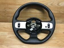 2014 Renault Twingo Flat Bottom Black White Leather Steering Wheel Multifunction
