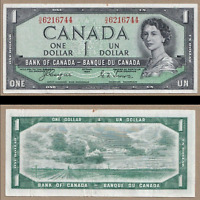 Devil's Face 1954 $1 Bank of Canada Coyne Towers - EF/AU