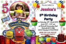 10 x Personalised Chuggington Birthday Invitation/Invites w Envelopes CC