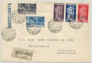 Posta aerea Ferrucci Egeo su busta 1930