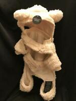 UGG Dog Sherpa Winter Coat Jacket Pajamas Pet Cream Removable Hood Size Small.