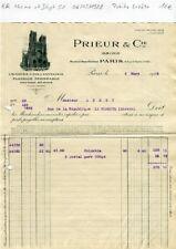 Paris IV ème 9 Rue St Martin & Dépt 51 - Petite Entête Prieur & Cie  06/03/1928