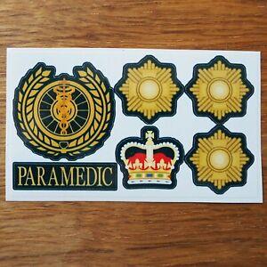Paramedic Rank Ambulance Service Advanced Sector Manager Director Vinyl Sticker