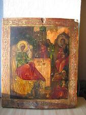 Icona Russa,Antique Russian Orthodox icon,,Nativity of Theotokos,,from 19c.