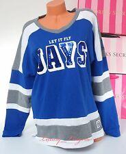PINK VS Collegiate Collection Sequins Bling JAYS Crew Sweatshirt Jacket M Medium