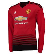 Mens M Manchester United Home Shirt 18-19 - LS With Pogba 6 Print Mu14