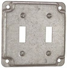 """STEEL CITY 4"""" SQ 2-SWITCH BOX COVER RS5, PK2   (X11328-2*A)"""