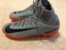 Nike Mercurial Superfly V Cr7 Fg Youth Soccer Cleats Size 5.5Y Gray Blue Orange
