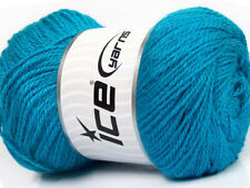 Lot of 4 x 100gr Skeins Ice Yarns NORSK (45% Alpaca 25% Wool) Yarn Turquoise