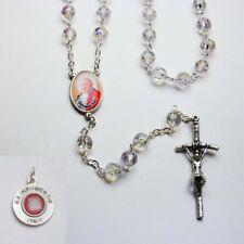NEW - POPE JOHN XXIII - Crystal Rosary - Clear