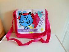 NEW MR MEN LITTLE MISS GIGGLES GIRLS PINK SHOULDER BAG/SCHOOL BAG