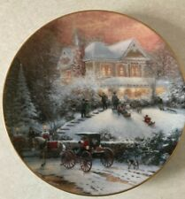 Bradford Decorator Plate, All Friends Are Welcome by Thomas Kinkade