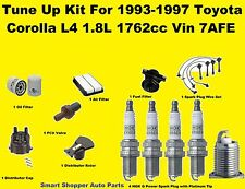 93-97 Toyota Corolla Tune Up Kit: Spark Plug Wire Set, Engine Filter Cap Rotor P