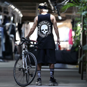 ByTheR Skull Logo Printed Running Tank Top One Size New