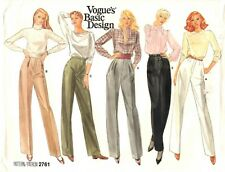 "Vogue Basic Design Sewing Pattern Women's PANTS 2761 Sz 10 Waist 25"" UNCUT"