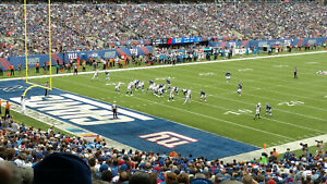 2021 New York Giants Tickets vs.Dallas Cowboys Section 121 Row 42 Seats 5, 6, 7