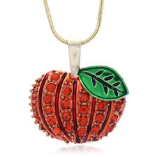 New Autumn Thanksgiving Holiday Halloween Pumpkin Pendant Necklace Charm Jewelry