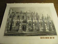 Planche  Roselyn Chapel - South Front BILLINGS 19e
