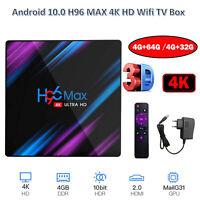 H96MAX Android 10 64GB ROM 4GB RAM 4K Wifi Media Player TV BOX Quad Core EU Plug