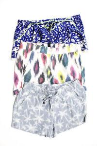 J Crew Splendid Women's Casual Shorts Beige Blue White Size 2 Small Lot 3