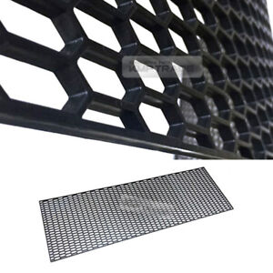 "5_Black Honeycomb Hexagon Mesh ABS Grille Fog Custom DIY Kit 43""x15"" for PORSCHE"