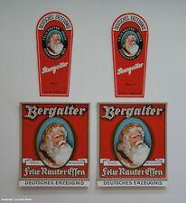 VIER Flaschen Etiketten Bergalter Felix Rauter Essen wohl um 1925 !?