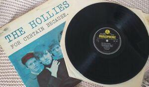 Original Hollies 1966 For Certain Because Vinyl Lp Album Record
