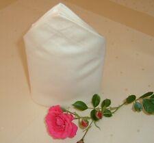 16 Stoffservietten Serviette Napkin 55x55 cm Briefeck  glatt  Baumwolle