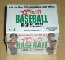 2013 Topps baseball Heritage 100-card high number box set auto Machado? Rendon