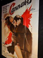 serge gainsbourg birkin  CANNABIS  !  rare affiche cinema drugs 1970