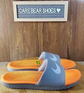 Nike Kawa Orange/White/Grey Slide Sandals SIZE 7Y WMNS 8 819352-801
