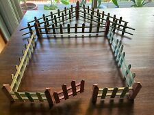 Vintage Toy Wooden Christmas Tree Fence with Box