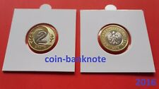 Pologne Polonia Polen Poland 2 zlote 2016 in holder UNC  - Mint condition