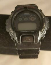Casio G-Shock DW-6900 Black Red Digital Chrono Diver Watch See Pics