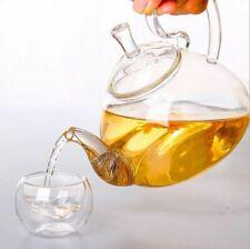 Flower Tea Coffee Teapots Heat Resistant Drinkware Infuser Glass Tea Pot Tea set