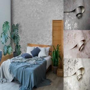 Holden Decor Obsidian Concrete Style Textured Wallpaper 4 Colours