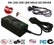 12V 9W 12W 15W MR16 LED DOWNLIGHT DRIVER TRANSFORMER DOWN LIGHT PLUG AND LEAD