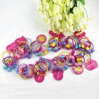 New 50Pcs Cartoon Animal Elastic Hair Band Rope Ponytail Holder For Kids GirlFEH