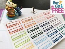 PP192 -- Small Habit Tracker Life Planner Stickers for Erin Condren (24pcs)