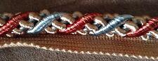 """Parisia .5"""" Gorgeous Gold/Blue/Red LIP Braided Cord 29 Yds.-High End Trim"""